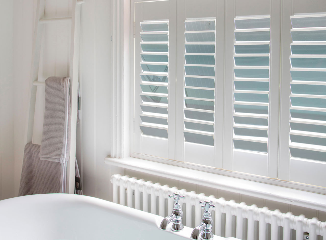 Custom Made Mirror Shutters for Windows from Key Largo Shutters in Essex UK
