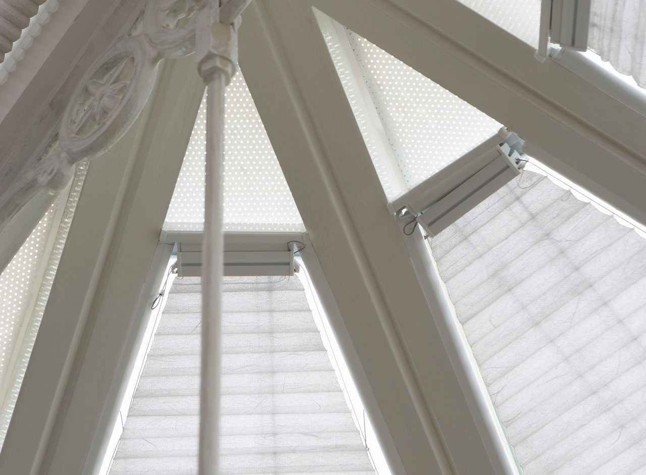 'Duette' Conservatory Window Blinds Custom Made & Fitted in the UK by Key Largo Shutters in Essex