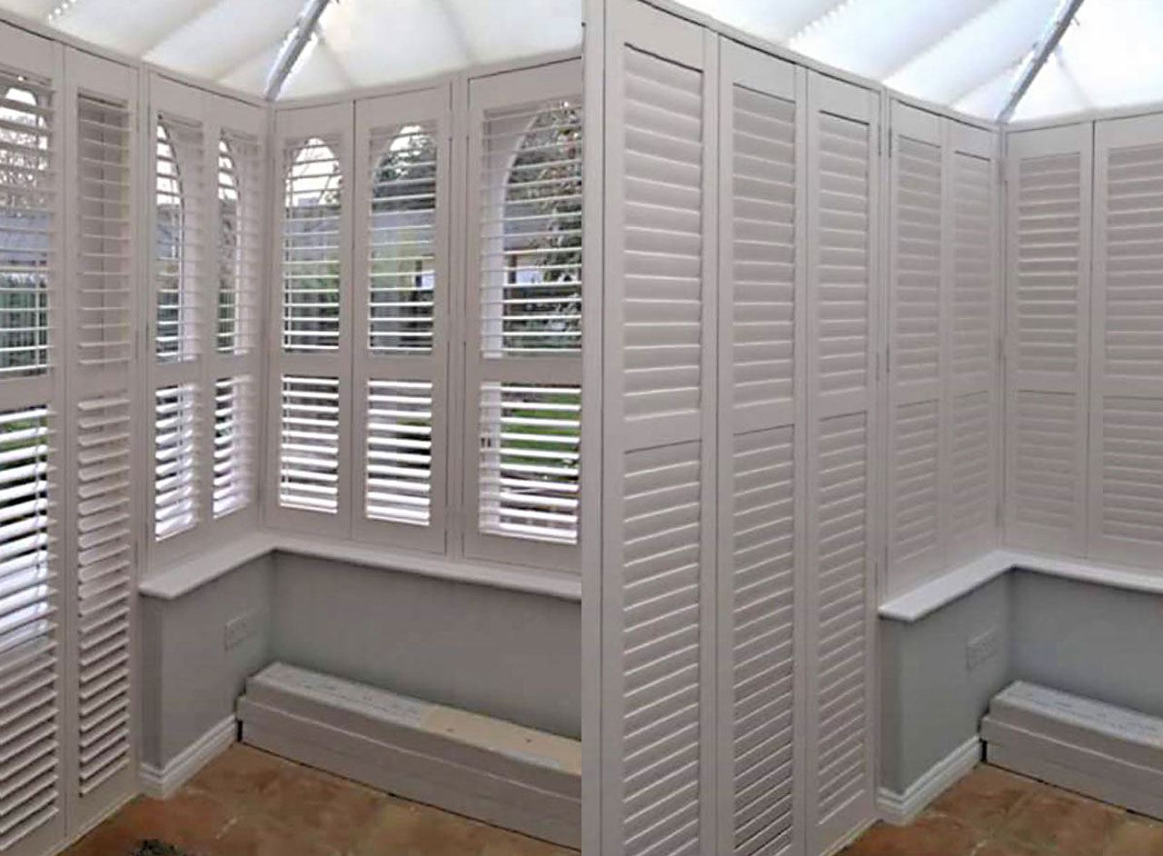 Custom Made To Measure Window Shutters Supplied and Professionally Fitted by Key Largo Shutters in Essex UK