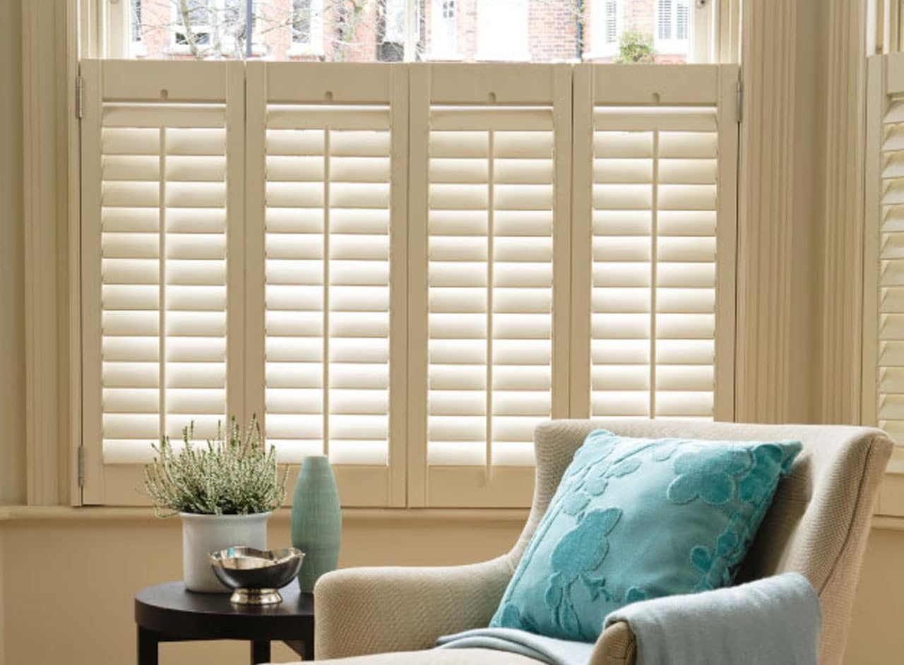Made to Measure Café Style Window Shutters Supplied & Fitted by Key Largo Shutters in Essex UK