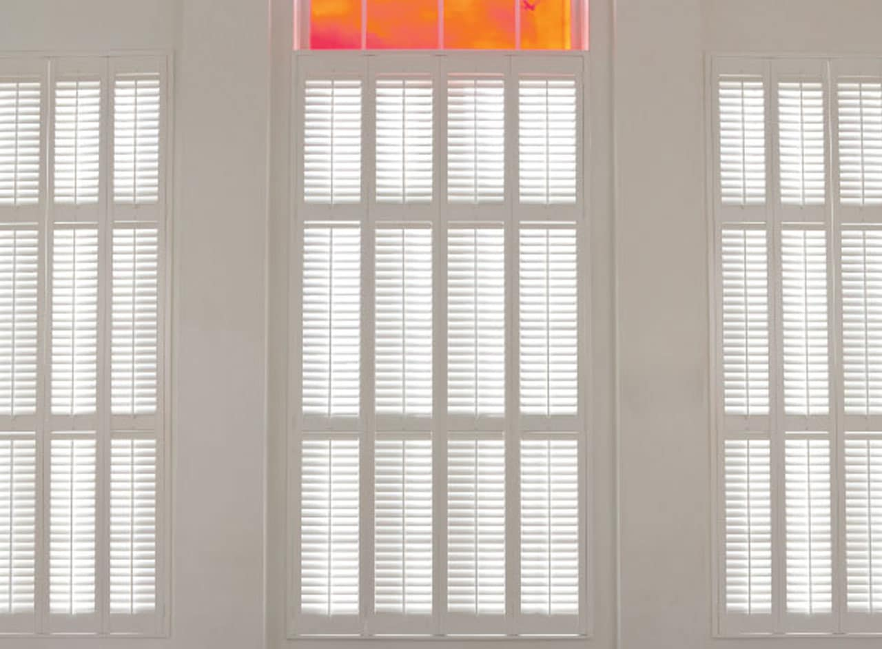 Custom Made to Measure Full Height Window Shutters from Key Largo Shutters in Essex UK