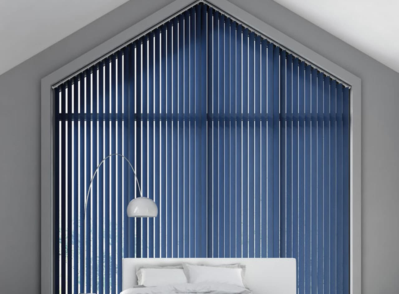 Custom Made Vertical Blinds For Any Room Supplied and Fitted by Key Largo Shutters in Essex UK