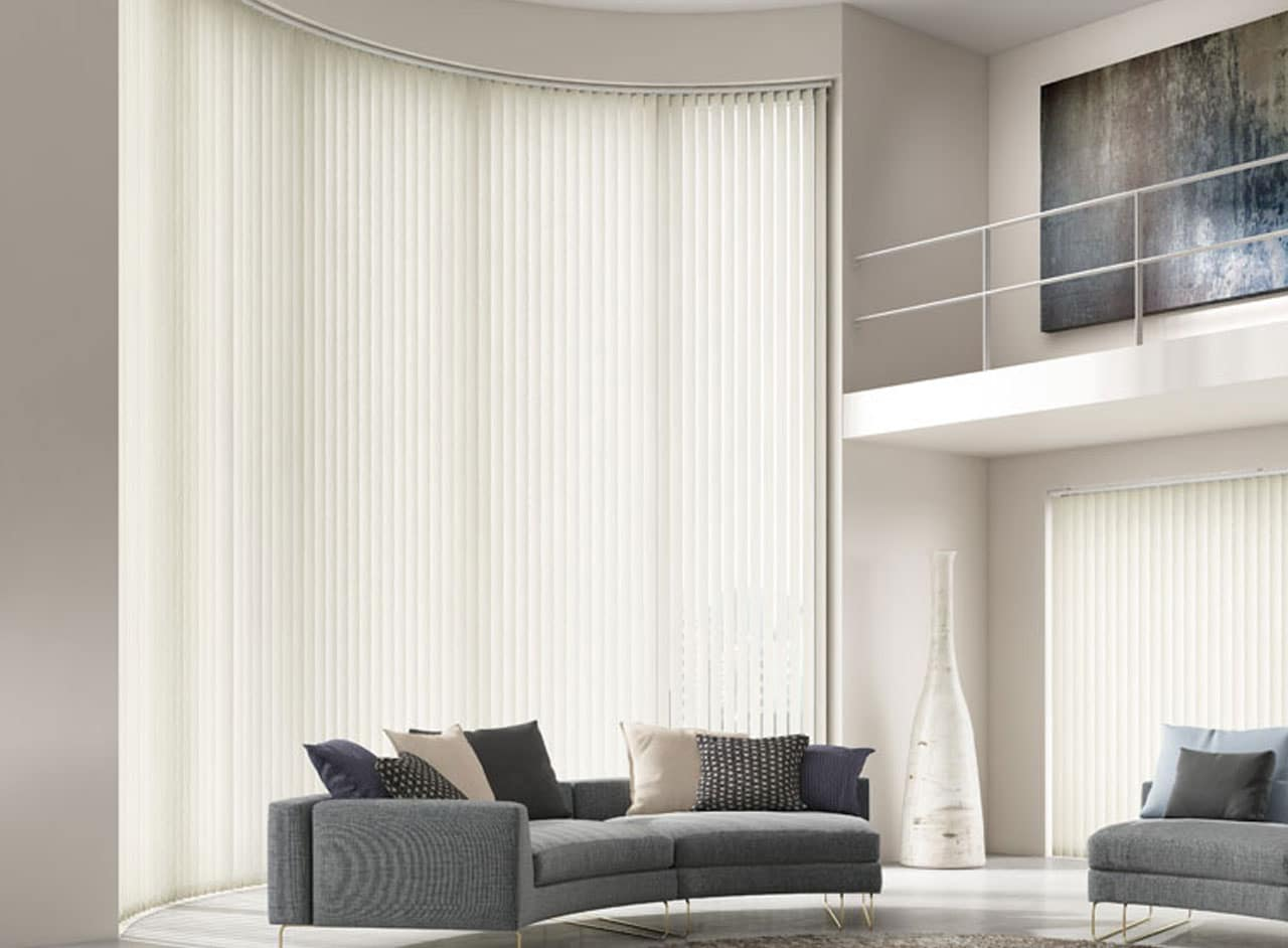 Custom Vertical Blinds For Any Room Supplied and Fitted by Key Largo Shutters in Essex UK